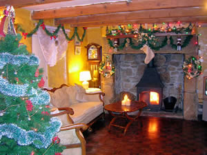 Christmas holiday in the farmhouse